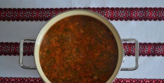 Как приготовить классический суп харчо из говядины с рисом 6