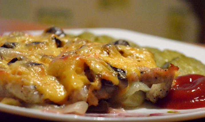 с грибами и сыром