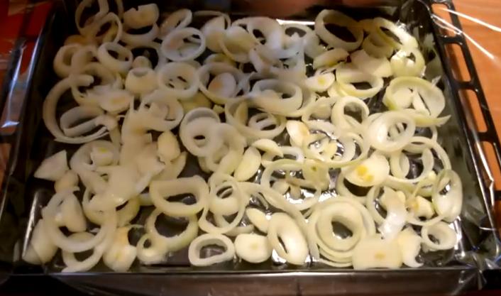 с грибами и сыром и луком