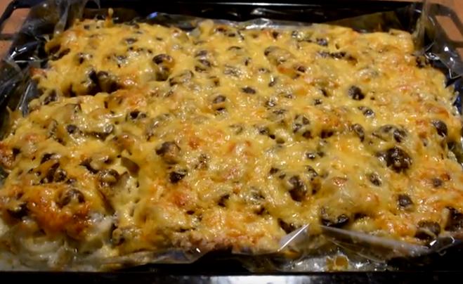 с грибами и сыром 3