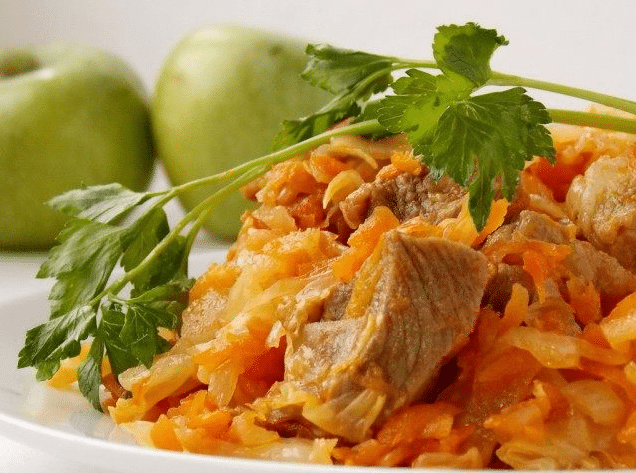 приготовления капусты тушеной с мясом