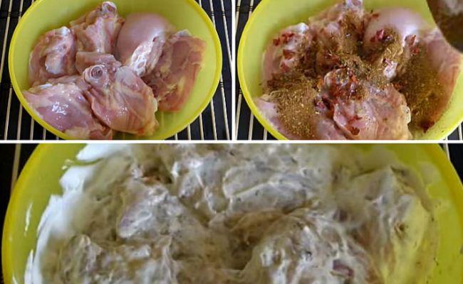 Приготовление мяса и картофеля