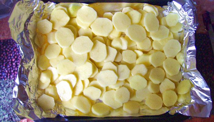 мяса, запеченного в фольге с картофелем 4