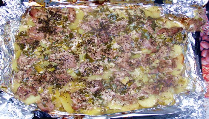 мяса, запеченного в фольге с картофелем 7