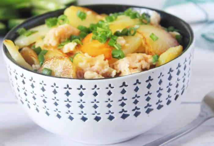 Картошка с мясом жареная на сковороде – рецепты приготовления