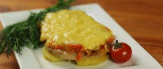 Мясо по-французски в духовке из свинины классический рецепт
