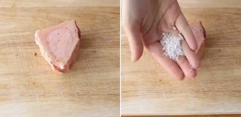 натираем кость солью