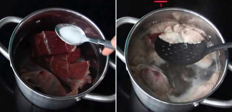 варим мясо Шаг 1