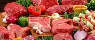 Красное мясо это какое мясо