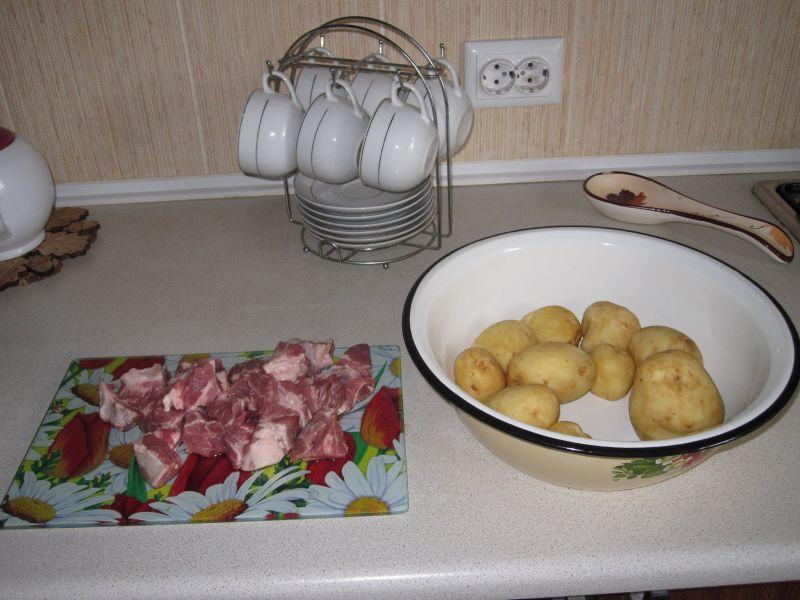 Картошка с мясом в духовке — 6 рецептов этап 2