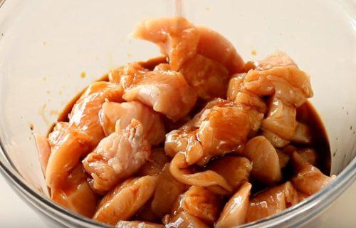 Курица в кисло-сладком соусе с ананасами