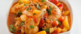 Курица тушеная с овощами рецепты