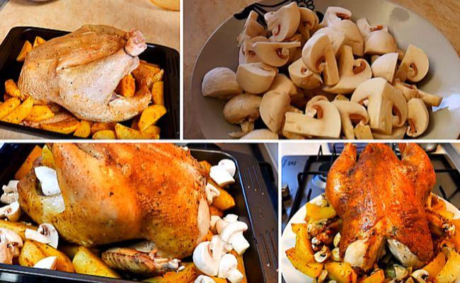 Рецепт курицы с хрустящей корочкой и картошкой