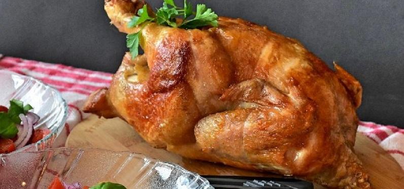 Курица жареная в духовке