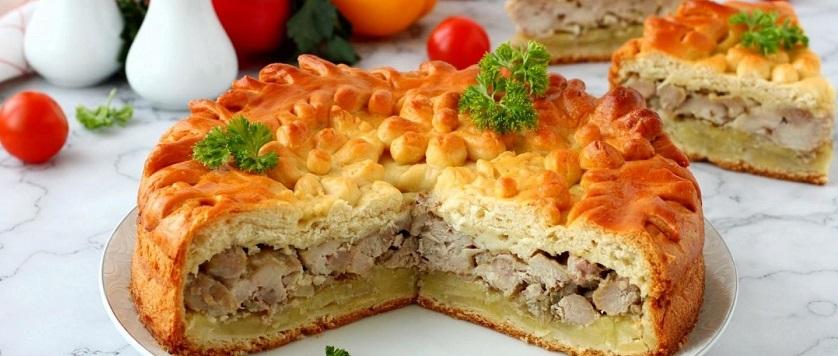 Пирог с картошкой и мясом в духовке рецепты