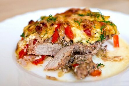 Мясо по-французски с говядиной в фольге