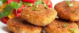 Котлеты из куриного фарша на сковороде сочные и вкусные