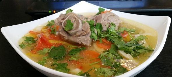 Классический вариант суп из козлятины дикой
