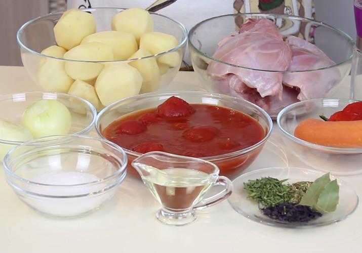 продукты для кролика с овощами