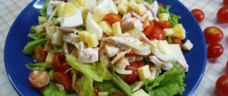 Салат цезарь с курицей классический простой и вкусный