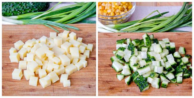 сыр и огурцы