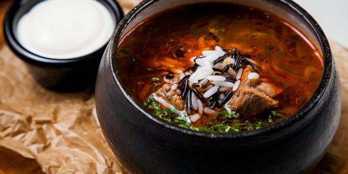 Классический рецепт супа-харчо из баранины и риса