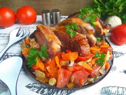 Баранина в духовке с овощами — вкусное, простое и полезное блюдо