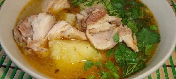 Картофельный суп с бараниной