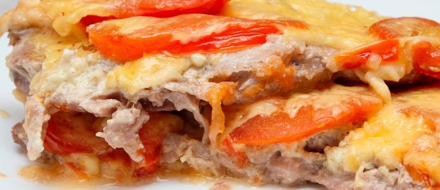 Отбивные из свинины в духовке с помидорами и сыром рецепты