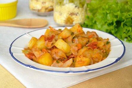 С мясом и картошкой