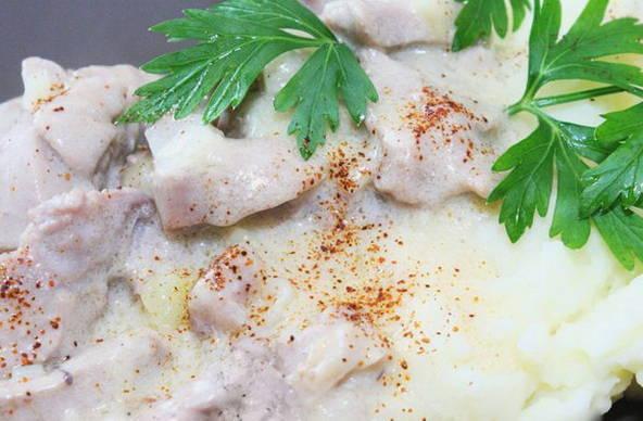 Филе индейки запеченное в духовке быстро и вкусно со сливками