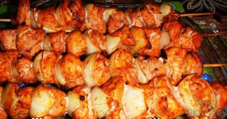 Шашлык из индейки маринад самый вкусный в духовке