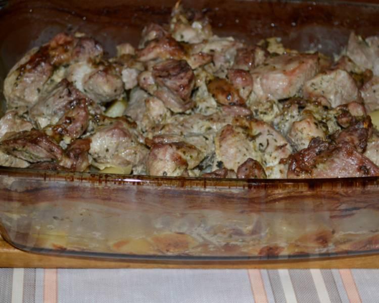 Жаркое из говядины с картошкой в духовке на протвине 2