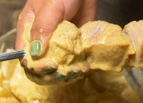 Шашлык из индейки на кефире