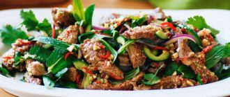 Тёплый салат с говядиной рецепты