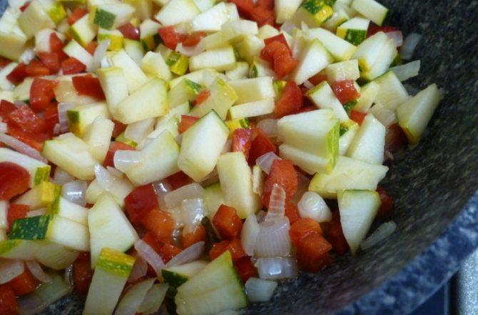 Пассеровка овощей на сковороде